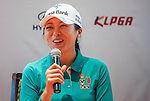 Mi-Jung Hur of Korea attends the press conference ahead of the Hyundai China Ladies Open 2014 on December 10 2014 at Mission Hills Shenzhen, in Shenzhen, China. Photo by Xaume Olleros / Power Sport Images