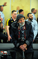 Photographer Peter Bush watches proceedings in the changing room aftermatch following the Super Rugby match between the Hurricanes and Blues at Westpac Stadium, Wellington, New Zealand on Saturday, 2 July 2016. Photo: Dave Lintott / lintottphoto.co.nz