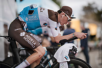 Romain Bardet (FRA/AG2R-La Mondiale) warming up for Stage 5 (ITT): Barbentane to Barbentane (25km)<br /> 77th Paris - Nice 2019 (2.UWT)<br /> <br /> ©kramon