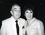 """Vincente Minnelli and Liza Minnelli after seeing """"Yves Montand at the Met"""" on September 5, 1982 at The Met in New York City."""