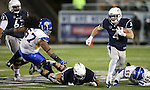 Nevada's Kendall Brock runs against San Jose State in an NCAA college football game in Reno, Nev., on Saturday, Nov. 16, 2013. (AP Photo/Cathleen Allison)