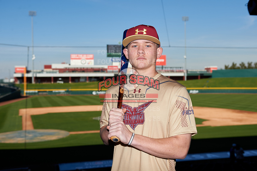 Cameron Ostmark during the Under Armour All-America Tournament powered by Baseball Factory on January 17, 2020 at Sloan Park in Mesa, Arizona.  (Zachary Lucy/Four Seam Images)Under Armour All-America Tournament powered by Baseball Factory on January 17, 2020 at Sloan Park in Mesa, Arizona.  (Zachary Lucy/Four Seam Images)