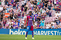26th September 2021;   Nou Camp, Barcelona, Spain: La Liga football, FC Barcelona versus Levante: Ansu Fati Barcelona watches play take shape