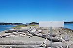 Blank park sign, Whidbey Island, Washington, USA.