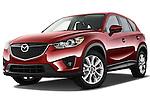 Low aggressive front three quarter view of a 2013 Mazda CX-5 GT.