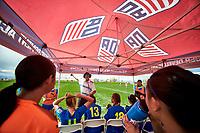 Commerce City, CO - Friday April 26, 2019: U.S. Soccer Girl's Development Academy Spring Showcase at Dick's Sporting Goods Park.