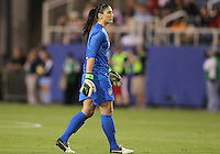 BOCA RATON, FL - DECEMBER 15, 2012: Hope Solo (1) of the USA WNT of  during an international friendly match against China at FAU Stadium, in Boca Raton, Florida, on Saturday, December 15, 2012. USA won 4-1.