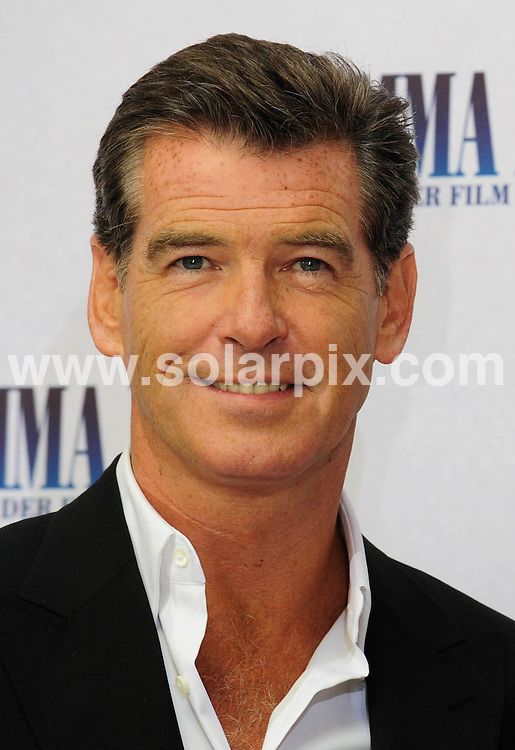 **ALL ROUND PICTURES FROM SOLARPIX.COM**.**SYNDICATION RIGHTS FOR UK AND SPAIN ONLY**.The Photocall for the movie Mamma Mia with Pierce Brosnan and  Meryl Streep in Berlin  in Germany. .This pic:Pierce Brosnan..JOB REF:6770-CPR/Clemens Bilan    DATE:02_07-08.**MUST CREDIT SOLARPIX.COM OR DOUBLE FEE WILL BE CHARGED* *UNDER NO CIRCUMSTANCES IS THIS IMAGE TO BE REPRODUCED FOR ANY ONLINE EDITION WITHOUT PRIOR PERMISSION*