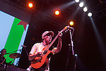 Singer Manu Chao performs during a concert at the Cultura Inquieta music festival in Getafe, Madrid, Spain. July 16, 2013. (ALTERPHOTOS/Victor Blanco)