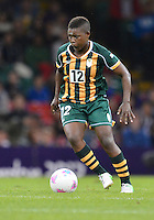 July 31, 2012..South Africa's Portia Modise (12) in action during Group F Football match between JPN and RSA at the Millennium Stadium on day four of 2012 Olympic Games in Cardiff, United Kingdom...