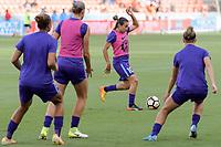 Houston, TX - Saturday June 17, 2017: Marta Vieira Da Silva warming up during a regular season National Women's Soccer League (NWSL) match between the Houston Dash and the Orlando Pride at BBVA Compass Stadium.