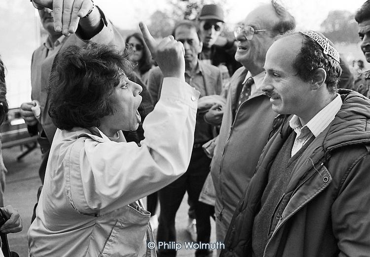 Iranian-Jewish argument.  Speakers' Corner, Hyde Park, London; 1993.