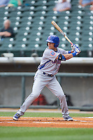 Jacob Hannemann (19) of the Tennessee Smokies at bat against the Birmingham Barons at Regions Field on May 4, 2015 in Birmingham, Alabama.  The Barons defeated the Smokies 4-3 in 13 innings. (Brian Westerholt/Four Seam Images)