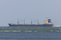 Cargo ship Birch Arrow entering Tampa Bay