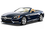 Front three quarter view of a 2013 Mercedes SL Class with the top down..