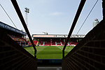 An interior view of the stadium showing the New Road stand before Brentford hosted Leeds United in an EFL Championship match at Griffin Park. Formed in 1889, Brentford have played their home games at Griffin Park since 1904, but are moving to a new purpose-built stadium nearby. The home team won this match by 2-0 watched by a crowd of 11,580.