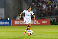 EAST HARTFORD, CT - JULY 1: Rebeca Bernal #6 of Mexico during a game between Mexico and USWNT at Rentschler Field on July 1, 2021 in East Hartford, Connecticut.