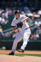 Charlotte Knights starting pitcher Erik Johnson (39) in action against the ]in\ at BB&T BallPark on June 21, 2015 in Charlotte, North Carolina.  The Knights defeated the Indians 13-1.  (Brian Westerholt/Four Seam Images)