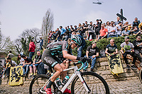 Vittoria Maria Sperotto at the top of the Muur,  16th Ronde Van Vlaanderen<br /> <br /> Elite Womans Race (1.WWT)<br /> <br /> One day race from Oudenaarde to Oudenaarde<br /> ©Jojo Harper for Kramon