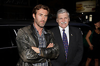 Montreal (QC) CANADA, September 26, 2007-<br /> <br /> Main actor Roy Dupuis (L) and General Romeo Dallaire (R)<br />  on the red carpet Premiere of the movie ;<br /> I shook the Devil's Hand - J'ai serre la main du Diable<br /> based on the book written by Dallaire who was the UN commander during the 1994 Rwanda genocide.<br /> <br /> <br /> photo : Pierre Roussel (c)  Images Distribution
