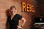 Founder Aimee Woodall in the Black Sheep offices on Spring Street Monday Sept. 08, 2014.(Dave Rossman photo)