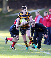 Saturday 4th February 2017 | RBAI vs BALLYCLARE HIGH SCHOOL<br /> <br /> Niall Armstrong during the Ulster Schools' Cup clash between RBAI and Ballyclare High School at  Cranmore Park, Belfast, Northern Ireland.<br /> <br /> Photograph by www.dicksondigital.com