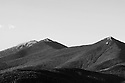 Franconia Ridge comprised of Lafayette, Lincoln, and Liberty captured at telephoto focal length and rendered in Black and White.