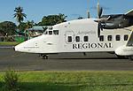 "Aeroperlas airlines lands with a flat tire at Bocas del Toro ""Isla Colon"" International Airport, Panama"