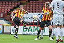 Partick's Mark Kerr takes a shot at goal.
