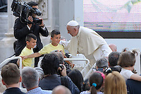 Pope Francis  audience to the participants at the Convention of Rome Diocese at St Peter's square on June 14, 2015 at the Vatican.