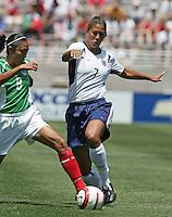Fatima Levya, left, Shannon Boxx, right, USA v Mexico, 2004.