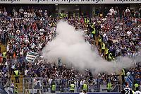 Rauchbombe im Berliner Fanblock