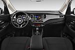 Stock photo of straight dashboard view of a 2014 KIA CARENS Lounge 5 Door Mini MPV 2WD Dashboard