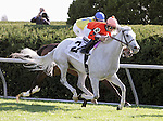 Tapitsfly and Jose Lezcano win the 15th running of the First Lady Grade 1 $350,000 at Keeneland Racecourse for owner Frank Jones, Jr. and trainer Dale Romans..  October 6, 2012.