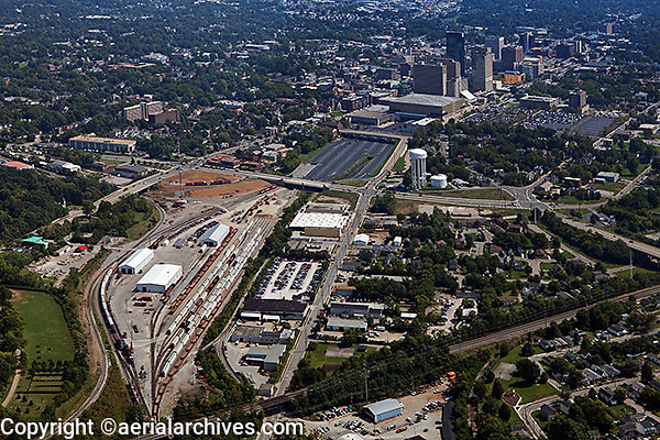 aerial photograph Lexington, Kentucky rail road terminal
