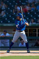 Kean Wong (5) of the Durham Bulls at bat against the Charlotte Knights at BB&T BallPark on July 4, 2018 in Charlotte, North Carolina. The Knights defeated the Bulls 4-2.  (Brian Westerholt/Four Seam Images)