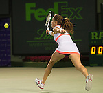 Agnieska Radwanska (POL) loses to Serena Williams (USA) 6-0, 6-3,  at the Sony Open being played at Tennis Center at Crandon Park in Miami, Key Biscayne, Florida on March 28, 2013