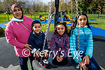 Enjoying the playground in the Tralee town park on Sunday, l to r: Laura, Mohamed, Sara and Ehad Gharib.