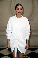 Paris, France September 27 : Marion Cotillard attends the Christian Dior Ready To Wear Spring/Summer 2017 show as part of Paris Fashion Week on September 27; 2016 in Paris, France. # FASHION WEEK - PEOPLE AU DEFILE DIOR.