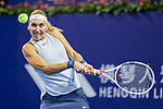 Elena Vesnina of Russia hits a return during the singles Round Robin match of the WTA Elite Trophy Zhuhai 2017 against Coco Vandeweghe of United States at Hengqin Tennis Center on November  02, 2017 in Zhuhai, China.Photo by Yu Chun Christopher Wong / Power Sport Images