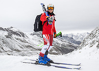 15th October 2020, Rettenbachferner, Soelden, Austria; FIS World Cup Alpine Skiing free practise training;  Hannes Reichelt of Austria during a free practice session for the men s Giant Slalom of FIS ski alpine world cup opening
