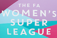 FAWSL signage ahead of Arsenal Ladies vs Notts County Ladies, FA Women's Super League FA WSL1 Football at Meadow Park on 10th July 2016