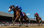 July 24, 2021: Ashaar #6, ridden by jockey Luis Saez wins the first race on Coach Club American Oaks Day at Saratoga Race Course in Saratoga Springs, N.Y. on July 24, 2021. Rob Simmons/Eclipse Sportswire/CSM