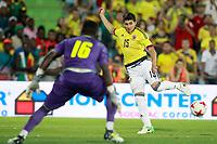 Colombia's Stefan Medina (r) and Cameroon's Andre Onana during international friendly match. June 13,2017.(ALTERPHOTOS/Acero) (NortePhoto.com) (NortePhoto.com)