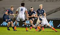 19th December 2020; AJ Bell Stadium, Salford, Lancashire, England; European Champions Cup Rugby, Sale Sharks versus Edinburgh;  JP du Preez of Sale Sharks attacks the Edinburgh line