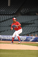 TEMPORARY UNEDITED FILE:  Image may appear lighter/darker than final edit - all images cropped to best fit print size.  <br /> <br /> Under Armour All-American Game presented by Baseball Factory on July 20, 2018 at Wrigley Field in Chicago, Illinois.  (Mike Janes/Four Seam Images) Brennan Malone is a third baseman from IMG Academy in Matthews, North Carolina committed to UNC.