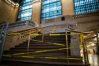 NEW YORK, NY - MAY 21:  One of the entrance of Grand Central Terminal is seen closed during the outbreak of the COVID-19 pandemic on May 21, 2020 in New York City. The number of transit workers killed by the coronavirus is at least more than 123, the agency revealed Wednesday. (Photo by Eduardo MunozAlvarez/VIEWpress via Getty Images)