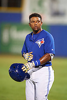 GCL Blue Jays second baseman Miguel Almonte (3) during the second game of a doubleheader against the GCL Phillies on August 15, 2016 at Florida Auto Exchange Stadium in Dunedin, Florida.  GCL Phillies defeated the GCL Blue Jays 4-0.  (Mike Janes/Four Seam Images)