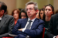 Gaetano Manfredi, Italian Minister of University and Research<br /> Rome February 7th 2020. Tempio di Adriano. Meeting on the European balance.<br /> Foto Samantha Zucchi Insidefoto