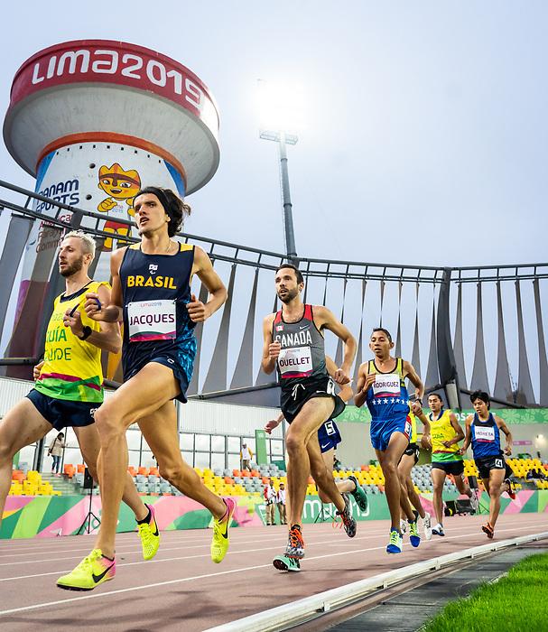 Guillaume Ouellet, Lima 2019 - Para Athletics // Para-athlétisme.<br /> Guillaume Ouellet competes in the men's 1500m T13 final // Guillaume Ouellet participe à la finale masculine du 1500 m T13. 24/08/2019.